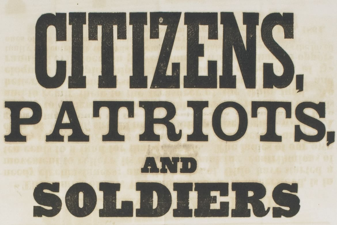 An American Civil War Broadside