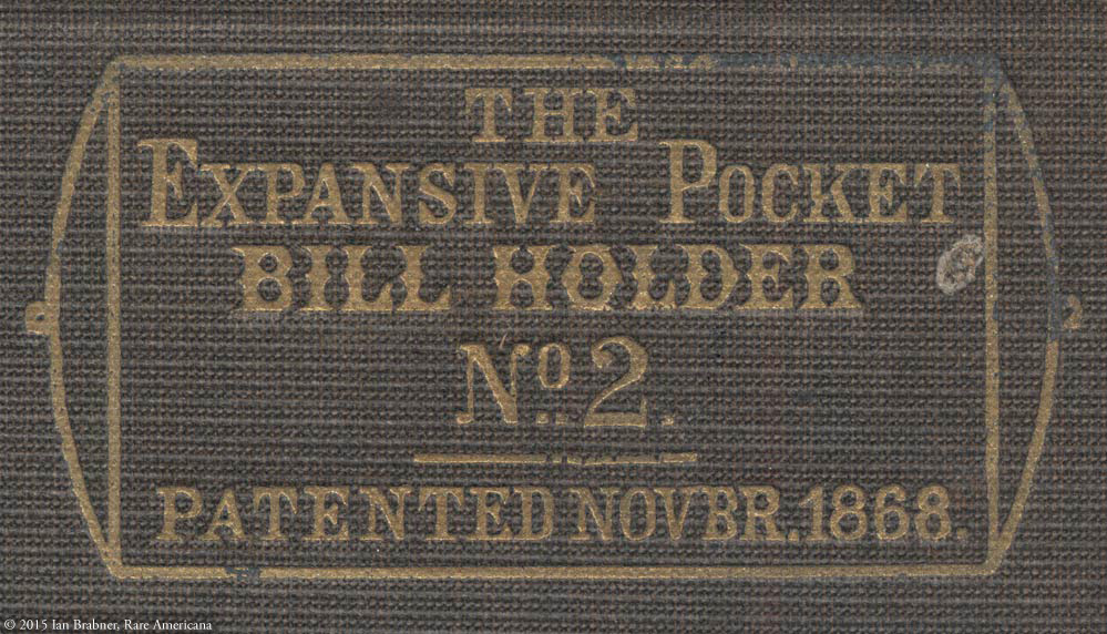 An Expansive 1868 Pocket Bill Organizer