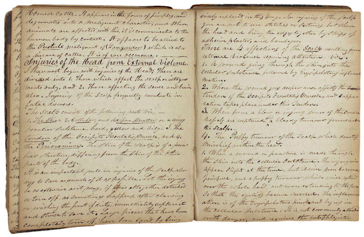 Manuscript Lecture Notebooks of Columbia Medical Student