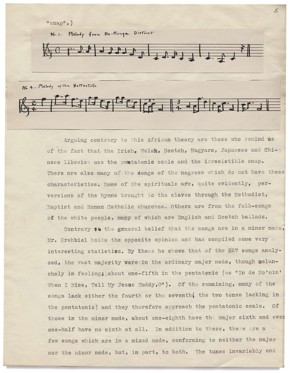 """""""The Folk Songs of Our Southern Negro """" College Term Paper by Mary Louise  Fryberger on Ian Brabner, Rare Americana ABAA"""