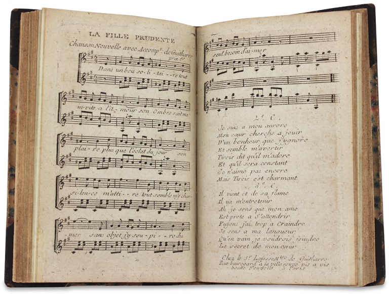 [Collection of 18th Century Secular French Sheet Music bound up and kept by Philadelphian Samuel Breck]. Samuel Breck, 1771–1862.