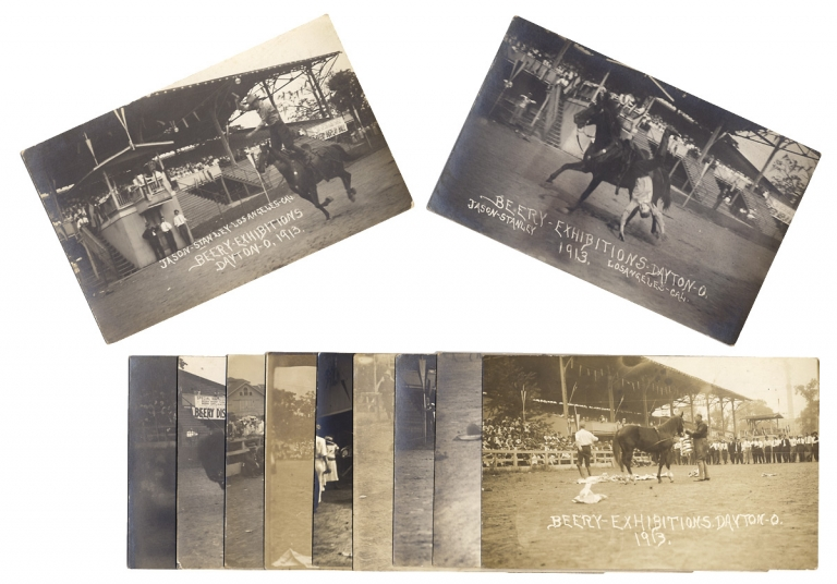 [Twelve Beery Western Show Exhibition Real Photo Post Cards]. Jesse Beery, Beery Exhibitions.