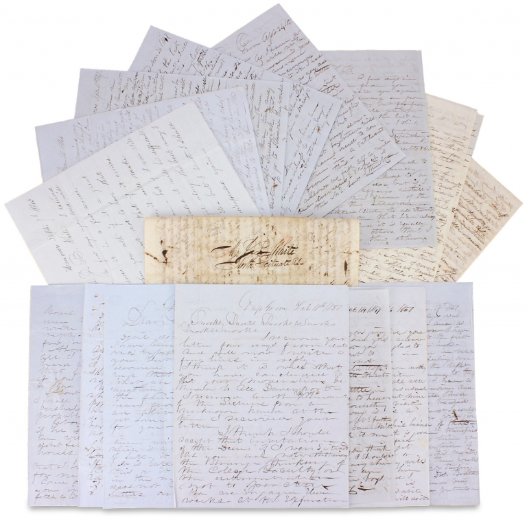 [1845–1851, 17 Autograph Letters Signed from Physician O.L.R. White of Illinois to his Brother]. O L. R. White.