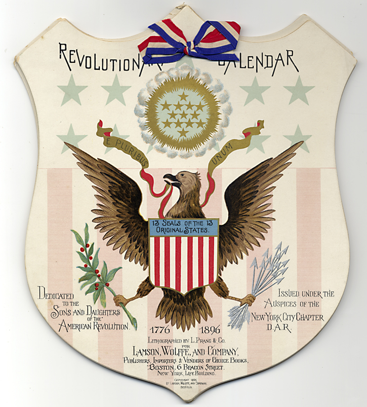 Revolutionary Calendar Dedicated to the Sons and Daughters of the American Revolution… [caption title]. Jeannette van Salisbury, New York School of Applied Design for Women.
