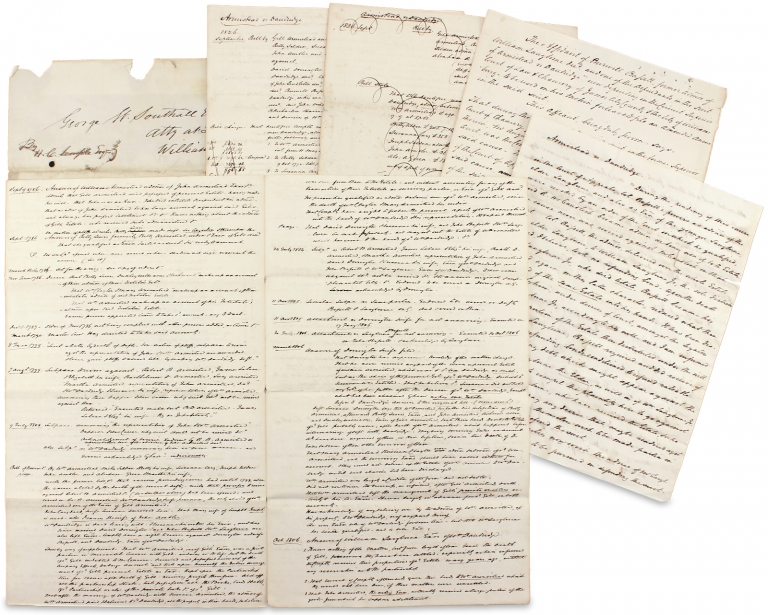 [Washington Family Estate Settlement: Armistead v. Armistead and Armistead v. Dandrige]. Jno. M. Gregory, George Washington Southall, B W. L., B W. Leigh Esq., 1764–1841, Burwell Bassett Jr.