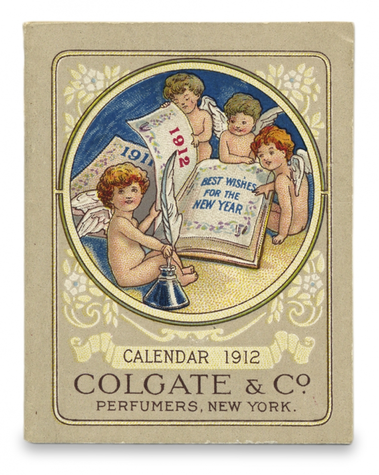 Miniature 1912 Calendar for Colgate & Co., Perfumers, New York. Colgate Company.