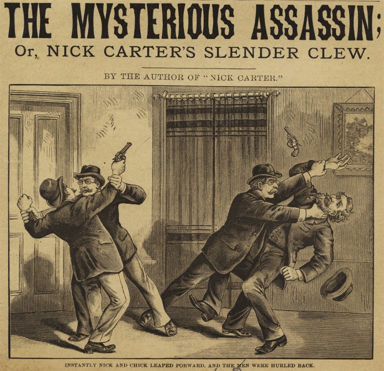 The Mysterious Assassin; Or, Nick Carter's Slender Clew [within:] Nick Carter Library. Anon.