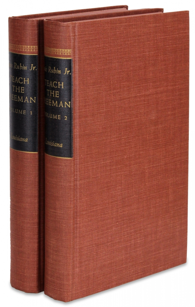 Teach the Freeman: The Correspondence of Rutherford B. Hayes and the Slater Fund for Negro Education, Volume I: 1881-1887, Volume II: 1888-1893. Rubin Jr., Louis D.