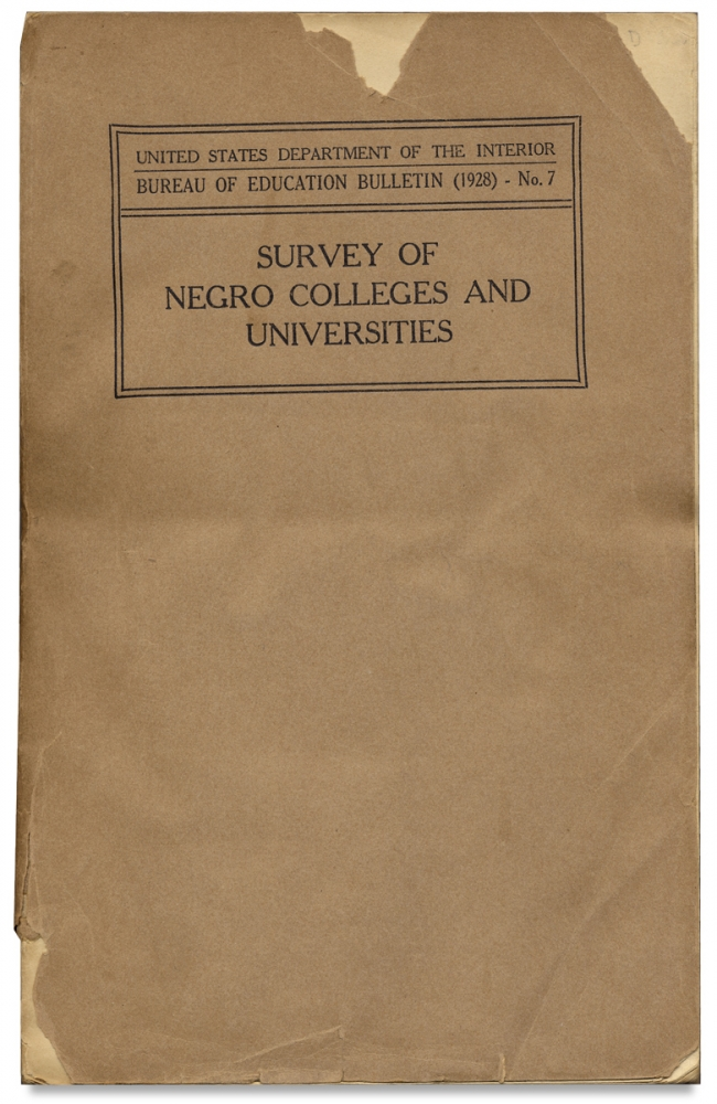 Survey of Negro Colleges and Universities. Arthur Klein.