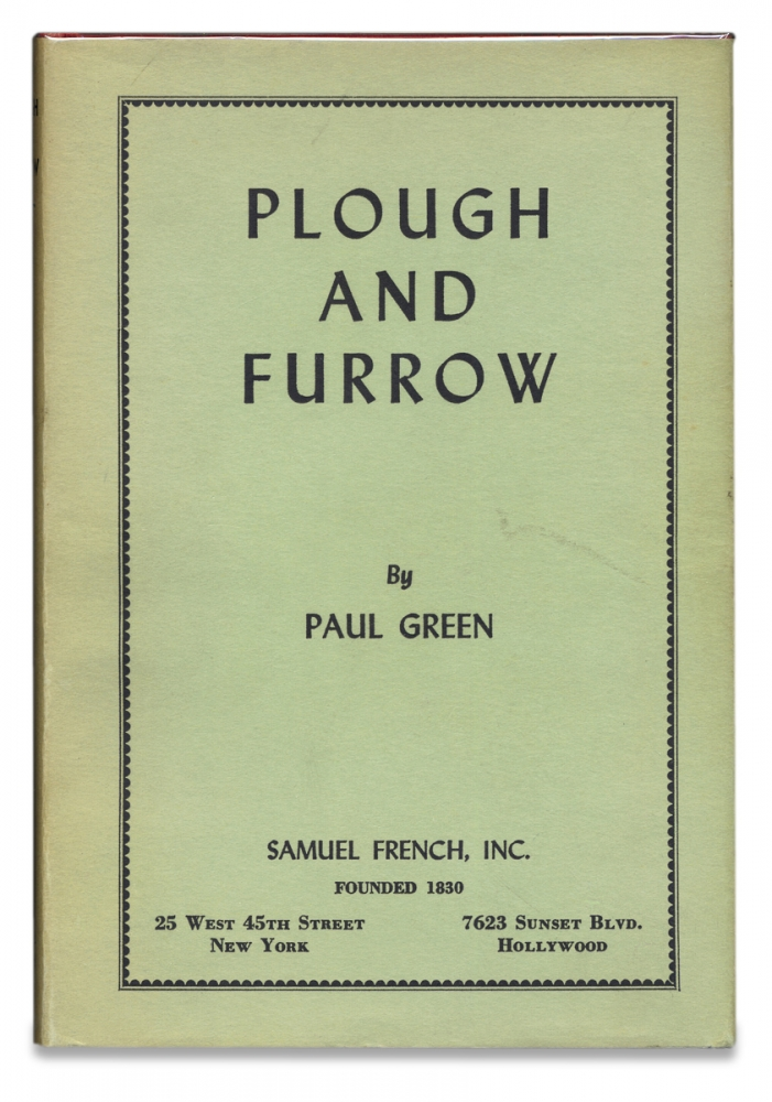 Plough and Furrow. [Presentation Copy]. Paul Green.