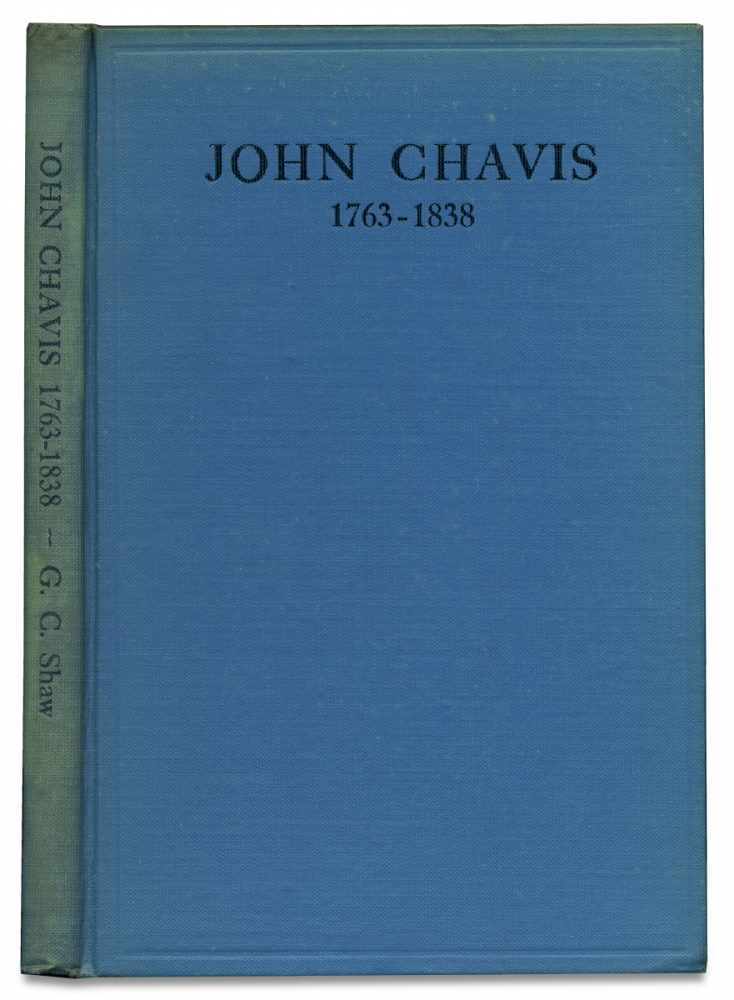 John Chavis, 1763-1838. A Remarkable Negro Who conducted a School in North Carolina for White Boys and Girls [Inscribed and Signed by Author]. D. D. G C. Shaw, 1863–1936, George Clayton Shaw.
