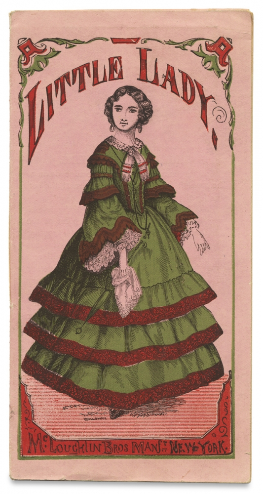 """Little Lady [cover title of McLoughlin Bros. Paper Doll """"Toy Book""""]. Manfr McLoughlin Bros."""
