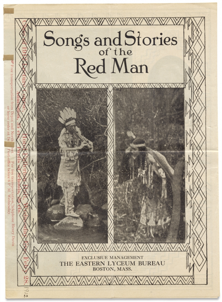 Songs and Stories of the Red Man. The Eastern Lyceum Bureau, Albert Gale, Martha Gale.