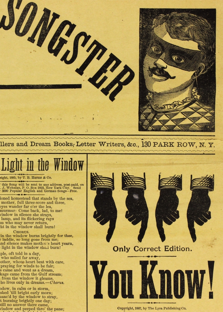 Clown's Giant Circus Songster. Extra Edition. [opening lines of broadside/propsectus]. Henry J. Wehman.