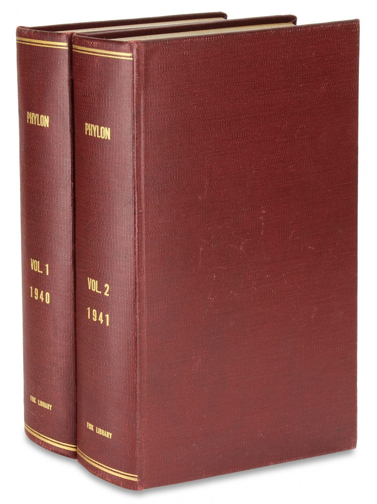 Phylon, The Atlanta University Review of Race and Culture [Volumes I and II]. W E. B. Du Bois, 1868–1963.