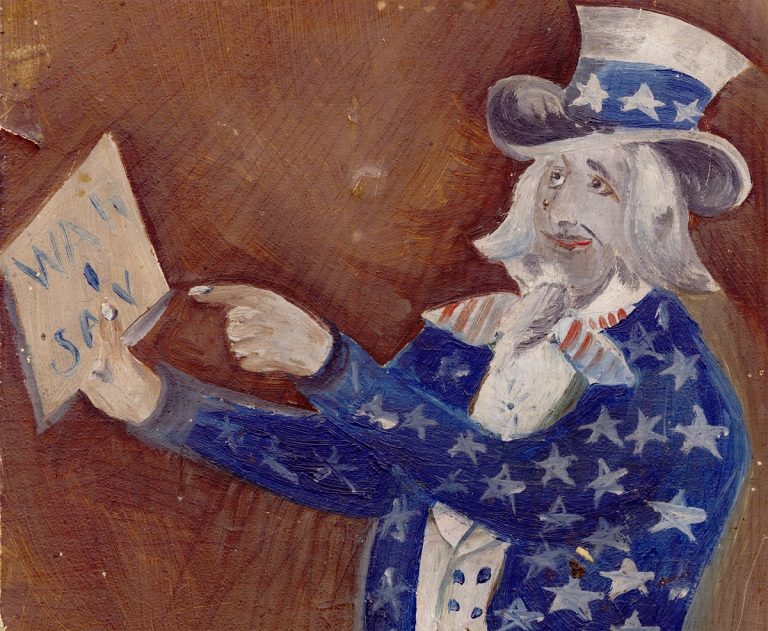 War I Say [caption title of Spanish-American War-Era Uncle Sam Painting]. Anon.