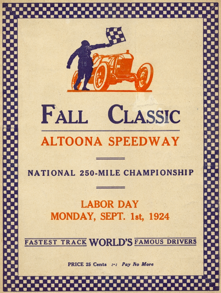 Fall Classic Altoona Speedway. National 250-Mile Championship. [cover title]. Altoona Speedway.