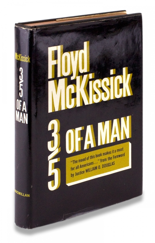 Three-Fifths of a Man. [First Edition, Inscribed and Signed]. Floyd McKissick.