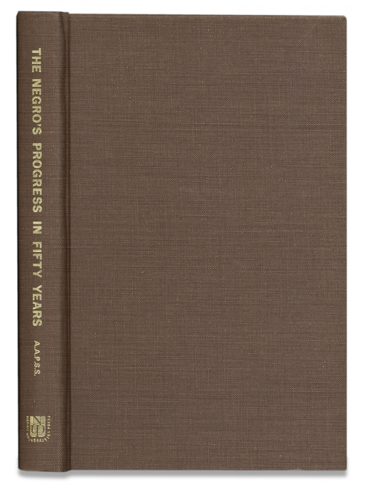 The Negro's Progress in Fifty Years. The Annals Volume XLIX September, 1913. Emory R. Johnson.
