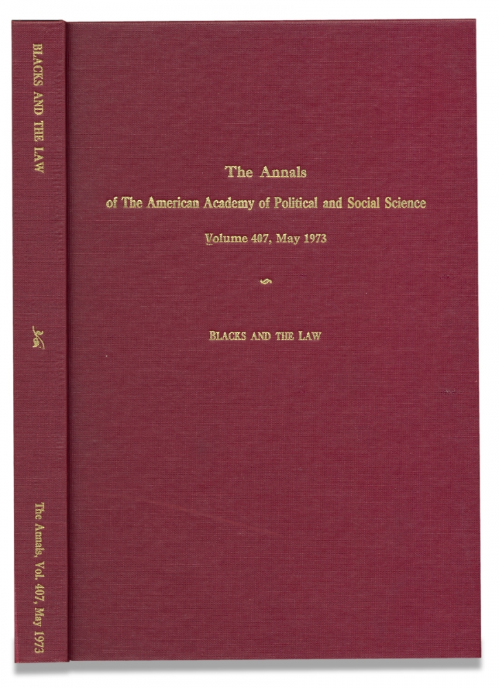 Blacks and the Law. [The Annals of The American Academy of Political and Social Sciences, Volume 407, May, 1973]. Jack Greenburg, Richard D. Lambert.
