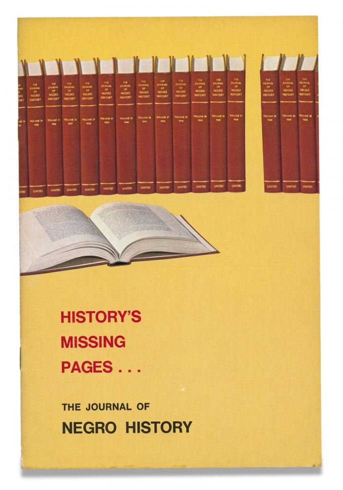 History's Missing Pages … The Journal of Negro History. [prospectus]. Leonard Klinsberg, 1875–1950, Carter G. Woodson.