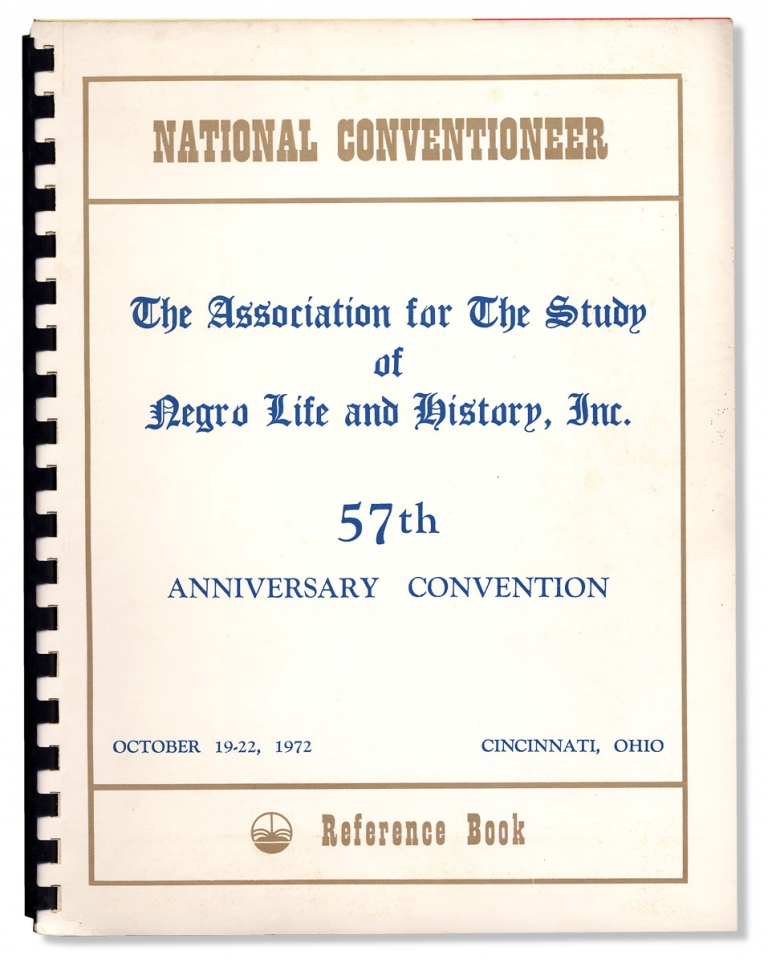 [Collection: The Association for the Study of Negro Life and History, Inc., 57th Anniversary ...1972]. The Association for the Study of Negro Life, Inc History.