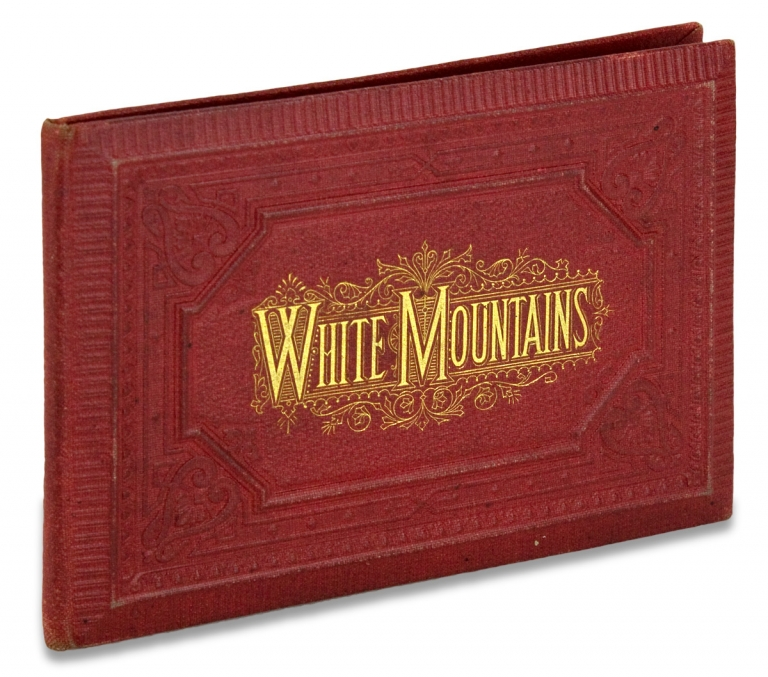 White Mountains. [cover title of concertina-fold, lithographic view book]. lithographer Louis Glaser.