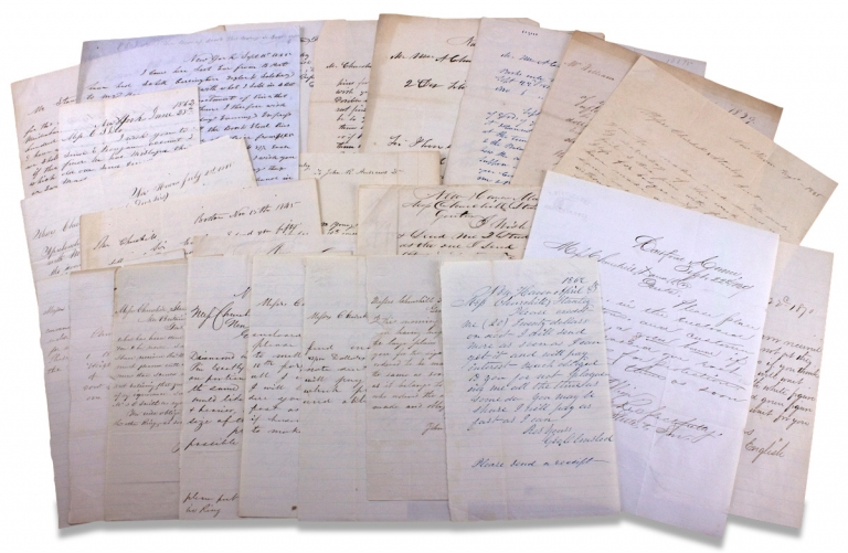 [Silversmith William A. Churchill et al. of Churchill, Stanley & Co., Jewelry Manufacturers of New Britain, Connecticut; Small Business Archive of Letters and Papers, 1838–1870]. Charles Mason Lewis, Churchill, Stanley Co, William Allen Churchill, James Stanley, 1810–1874, 1813–1880, 1813–1886.