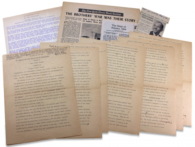[1938–1965 Incoming Letters and Papers of American Civil War Historian Bell I. Wiley]. Bell I. Wiley, John Hope Franklin, Bruce Catton, Allan Nevins, 1906–1980, Bell Irvin Wiley.