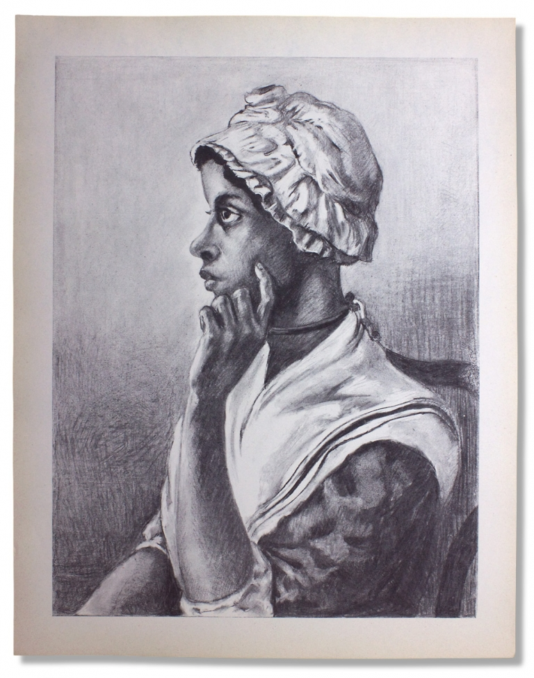 [Large Portrait Print of Phillis Wheatley, issued by the Associated Publishers, a Black Publishing House]. Associated Publishers.