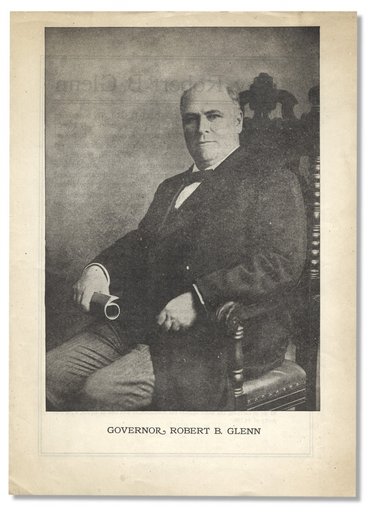 [Race Issues; North Carolina: Publicity Advertisement or Program for Governor Robert Broadnax Glenn lecturing at the American Lyceum Union in Rochester, New York]. Robert Broadnax Glenn, 1854–1920.