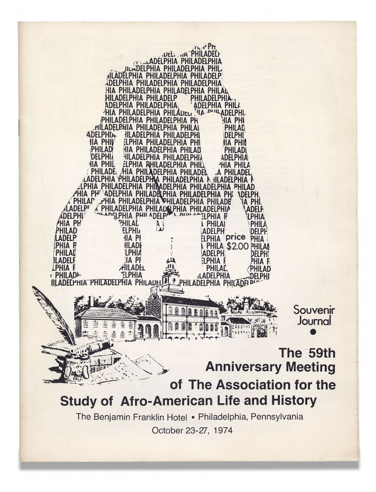 Souvenir Journal. 59th Anniversary Meeting of The Association for the Study of Afro-American Life and History ... Philadelphia, Pennsylvania, October 23-227, 1974. [cover title]. The Association for the Study of Afro-American Life and History.