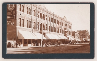 [C.1888–1895 Original Boudoir Card Photograph of the New St. Charles Hotel in San Bernardino, California]. Anon.