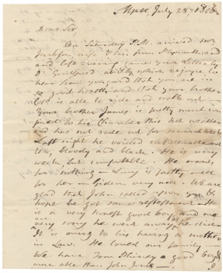 1806 Autograph Letter Signed from Gideon Hawley, Stockbridge and Mashpee, Massachusetts Indian...