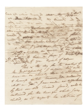 1806 Autograph Letter Signed from John Milledge former Governor of Georgia to Charles Harris, in...