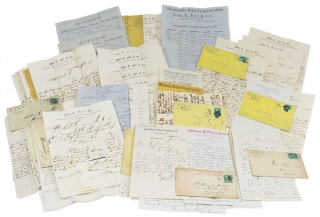 Archive of 53 Letters and Documents from Stock and Exchange Brokers, John E. Fox & Co. of...