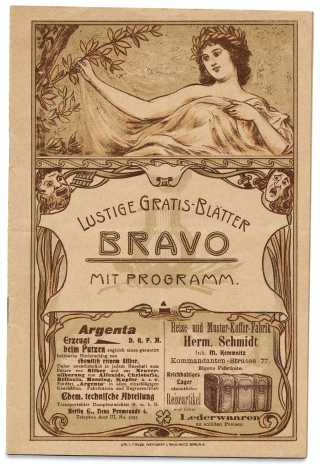 1897–1901 German and Austrian Belle Époque Musical Concert Programs; with related Ephemera; 72 items.
