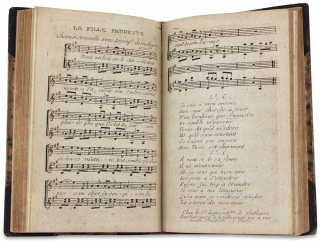 Collection of 18th Century Secular French Sheet Music bound up and kept by Philadelphian Samuel...