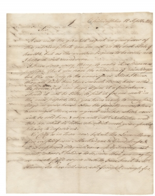 "1804 Autograph Letter Signed by ""Woche"" (or ""Wocke"") in Philadelphia to John H...."
