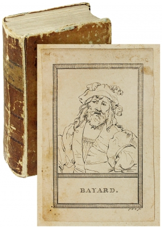 Bayard Bookplate and Primitive Iron Bookmark within:] Histoire de Pierre Terrail, dit Le...