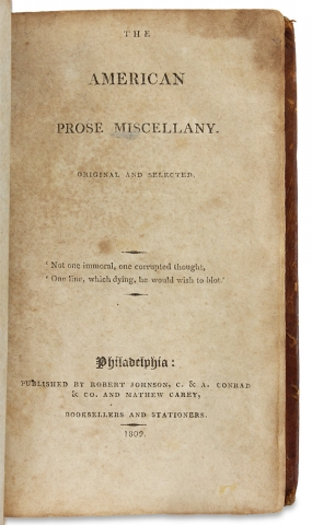 The American Prose Miscellany. Original and Selected.