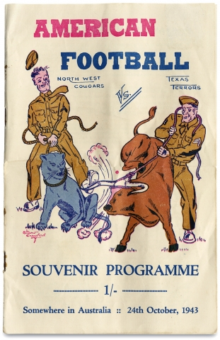 [The Texas Terrors:] American Football ... Souvenir Programme.