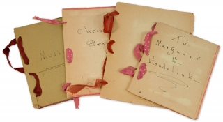 [Four Handmade Poetical Booklets with 20 Original Watercolor and Gouache Illustrations by W.H. Leggett of Pontiac, Michigan, 1943–1947].