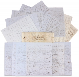 [1845–1851, 17 Autograph Letters Signed from Physician O.L.R. White of Illinois to his Brother].