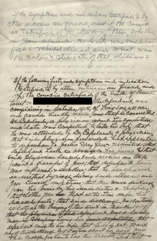 [Two Legal Documents with Testimony concerning the Marriage of Lorenzo D. W_____ and his Spouse].