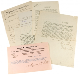 Five Letters from Marion Short, Playwright, to Literary and Dramatic Publisher Edgar S. Werner &...