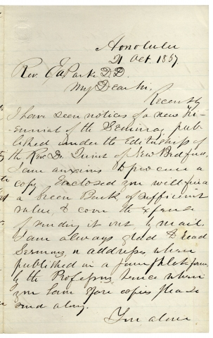 Autograph Letter Signed from Hawaiian Missionary Samuel C. Damon, publisher of The Friend, the...