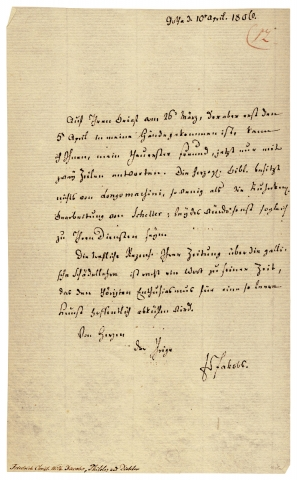 1806 Autograph Letter Signed by Friedrich Jacobs (1764–1847), Classical Scholar and...