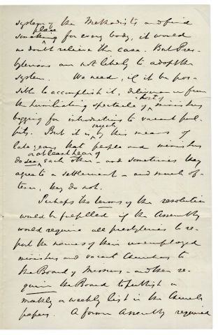 1863 Autograph Letter Signed by Princeton Theological Seminary Director, John Michael Krebs.