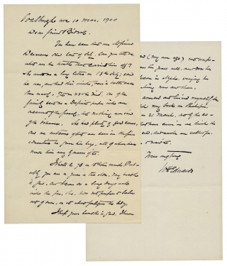 1900 Autograph Letter Signed by William Henry Edwards, Famed Naturalist. W H. Edwards, 1822–1909, William Henry Edwards.